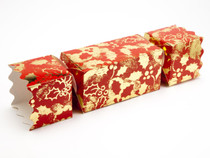 Large Twist End Cracker - Red and Gold Holly | MeridianSP
