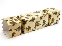 Extra Large Twist End Cracker - Kraft Holly | MeridianSP
