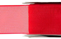 Chiffon Ribbon - Red - (x1 reel 25mtr) | MeridianSP