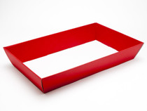 Large Flat Packed Red Hamper Tray