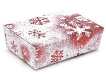 6 Choc Ballotin - Red and White Snowflake | MeridianSP