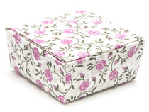 4 Choc Rose Floral Ballotin Chocolate Box