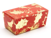 2 Choc Ballotin - Red and Gold Holly | MeridianSP