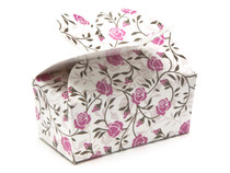 2 Choc Rose Floral Butterfly Ballotin Chocolate Box for Weddings, Parties, Mothers Day