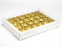 24 Choc Buffer Base and PVC Lid - White | MeridianSP