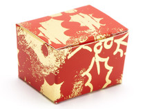 1 Choc Ballotin - Red and Gold Holly | MeridianSP