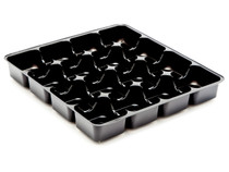 16 Choc Square Black Vac forme Tray