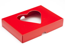 12 Choc Lid with Heart Window - Red - [LID ONLY] | MeridianSP