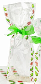 120x275 Hard Bottom Film Bag - Frosted Holly | MeridianSP