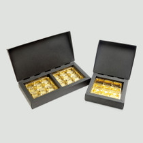 9 Choc Square Deluxe Gift Box - Black with Gold Vac-forme Trays | MeridianSP