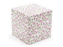 100mm Rose Floral Crashlock Cube Carton