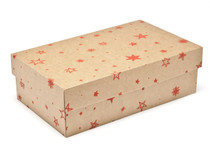 Kraft Stars Small sized General Purpose Gift Box - Gift Box - Larger Size Ideal for Christmas or Gifting occasions