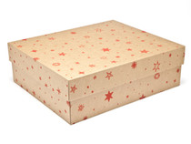 Kraft Stars Large sized General Purpose Gift Box - Gift Box - Larger Size Ideal for Christmas or Gifting occasions