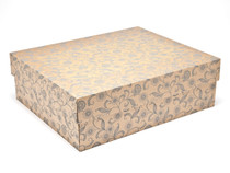Kraft Floral Large sized General Purpose Gift Box - Gift Box - Larger Size Ideal for Christmas or Gifting occasions