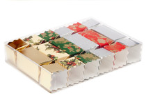 Clear 188x134x34 sized Rectangular Transparent Base and Lid - (or 6 Small Cracker Multi-Pack Display Box) - Rectangular Box Ideal for Christmas or Gifting occasions or any other (CRACKERS NOT INCLUDED)