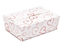 Light Hearts 6 Choc sized Ballotin - Gift Carton Ideal for Valentine's occasions or wedding or gifting