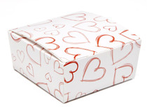 Light Hearts 4 Choc sized Ballotin - Gift Carton Ideal for Valentine's occasions or wedding or gifting