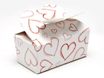 Light Hearts 2 Choc sized Butterfly Ballotin - Gift Carton Ideal for Valentine's occasions or wedding or gifting