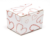 Light Hearts 1 Choc sized Ballotin - Gift Carton Ideal for Valentine's occasions or wedding or gifting