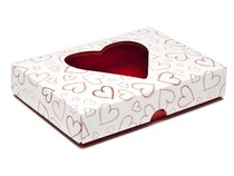 Light Hearts 12 Choc sized Heart Valentines Lid