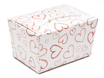 Light Hearts 125g sized Ballotin - Gift Carton Ideal for Valentine's occasions or wedding or gifting
