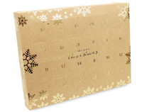 24 Day Self Fill Advent Calendar Kraft with Gold Snowflake