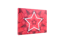 24 Day Red Geometric Star Giant Advent Calendar Angled