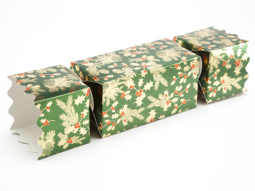 Large Twist End Cracker - Traditional Holly | MeridianSP