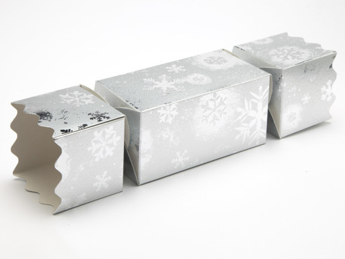 Large Twist End Cracker - Silver Snowflake | MeridianSP