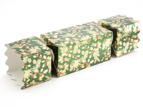 Extra Large Twist End Cracker - Traditional Holly | MeridianSP