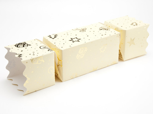 Extra Large Twist End Cracker - Trees and Presents | MeridianSP