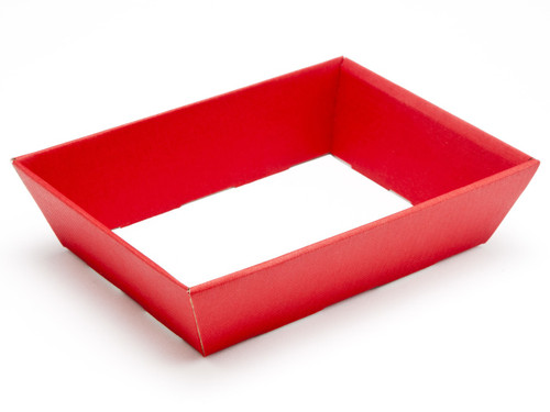 Small Shallow Card Hamper Tray - Deluxe Red | MeridianSP