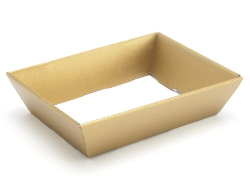 Small Shallow Card Hamper Tray - Deluxe Gold | MeridianSP