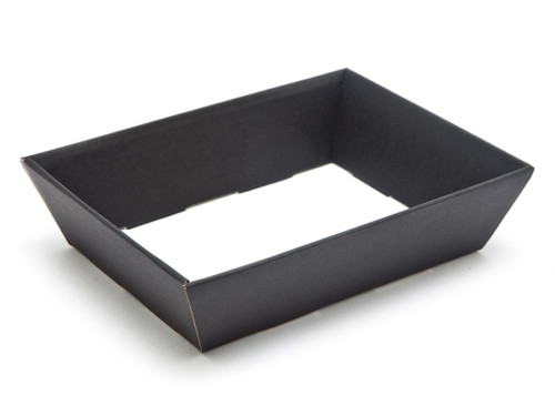 Small Shallow Card Hamper Tray - Deluxe Black | MeridianSP