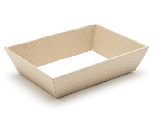 Small Shallow Card Hamper Tray - Premium Ribbed Kraft | MeridianSP