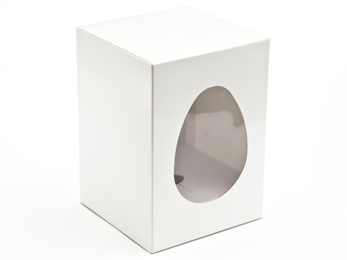 Small Easter Egg Carton and Plinth - White | MeridianSP