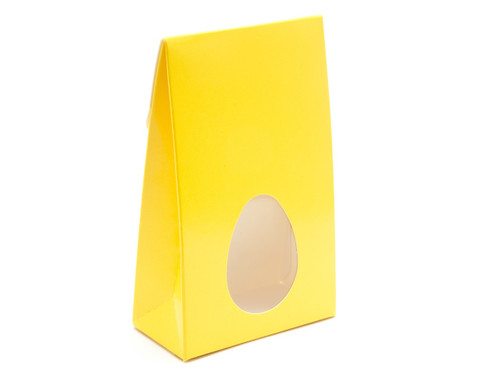 Small A-Frame Carton with Oval Window - Sunshine Yellow | MeridianSP