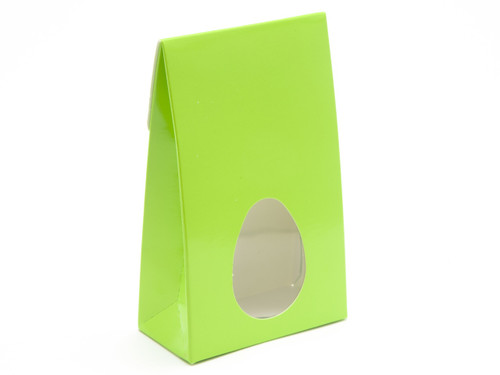 Small A-Frame Carton with Oval Window - Vibrant Green   MeridianSP