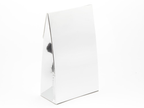 Small A-Frame Carton - Bright Silver | MeridianSP