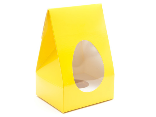 Small Tapered Easter Egg Carton and Plinth - Sunshine Yellow | MeridianSP