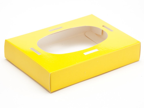Small Easter Egg Plinth for Transparent Carton - Sunshine Yellow | MeridianSP
