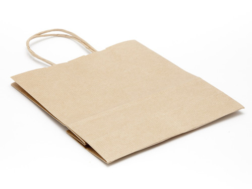 Small Paper Carrier Bag - Premium Ribbed Kraft | MeridianSP