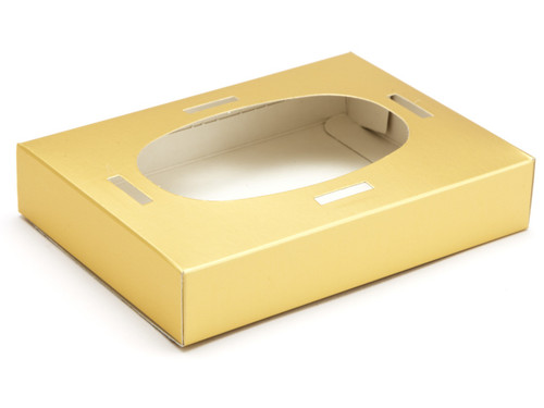 Small Easter Egg Plinth for Transparent Carton - Matt Gold | MeridianSP
