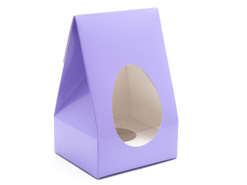 Small Tapered Easter Egg Carton and Plinth - Lilac | MeridianSP