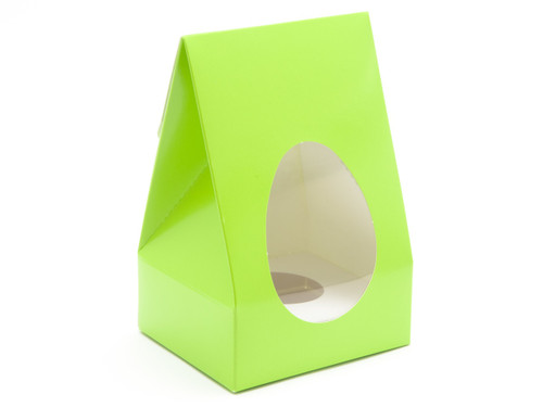 Small Tapered Easter Egg Carton and Plinth - Vibrant Green   MeridianSP