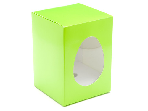 Small Easter Egg Carton and Plinth - Vibrant Green | MeridianSP