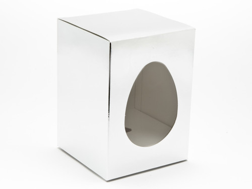 Small Easter Egg Easter Egg Carton and Plinth - Bright Silver | MeridianSP