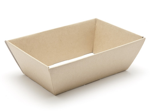 Small Card Hamper Tray - Premium Ribbed Kraft | MeridianSP