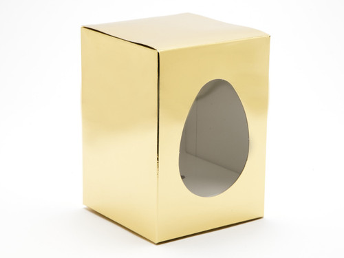 Small Easter Egg Easter Egg Carton and Plinth - Bright Gold   MeridianSP