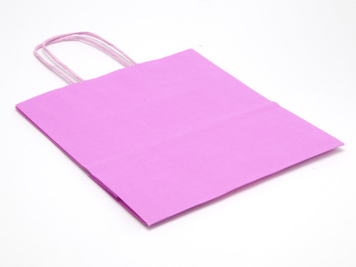 Small Paper Carrier Bag - Pink | MeridianSP